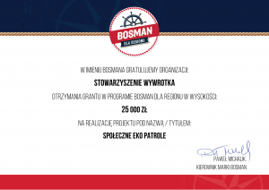 """Browar Bosman Szczecin sfinansuje """"Społeczne Eko Patrole""""!"""